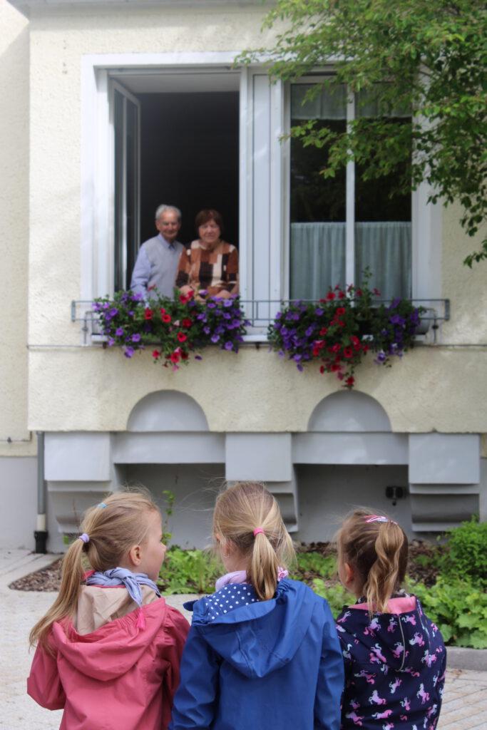 Besuch der Kindergarten Kinder